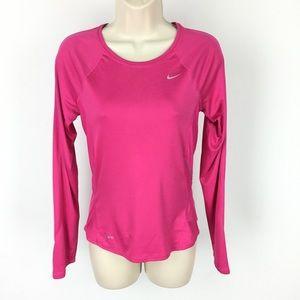 Nike Pink Long Sleeve Workout Top